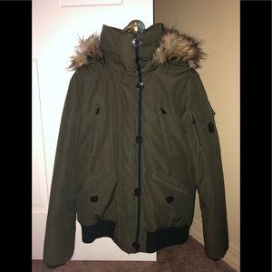 Women's Michael Kors Olive Winter Down Jacket